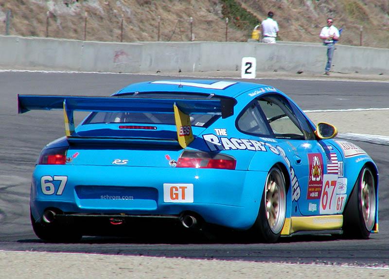 Porsche in the hairpin