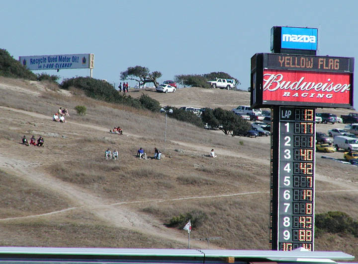 Watching from the hillside