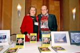 Guido Deboeck with wife Hennie and copies of his popular Belgian beer cookbook.