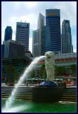 Merlion & skyline