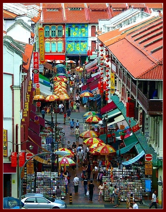 Chinatown: from the air, daytime