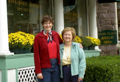 Marina and  LeeAnn in Lambertsville, Pa.