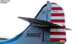 Tail of Consolidated PBY-5A N96UC aviation air show stock photo