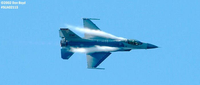 USAF F-16C-Block 50D AF91-0365 military aviation air show stock photo