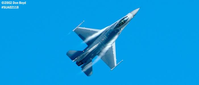 USAF F-16C-Block 50D AF91-0365 aviation air show stock photo