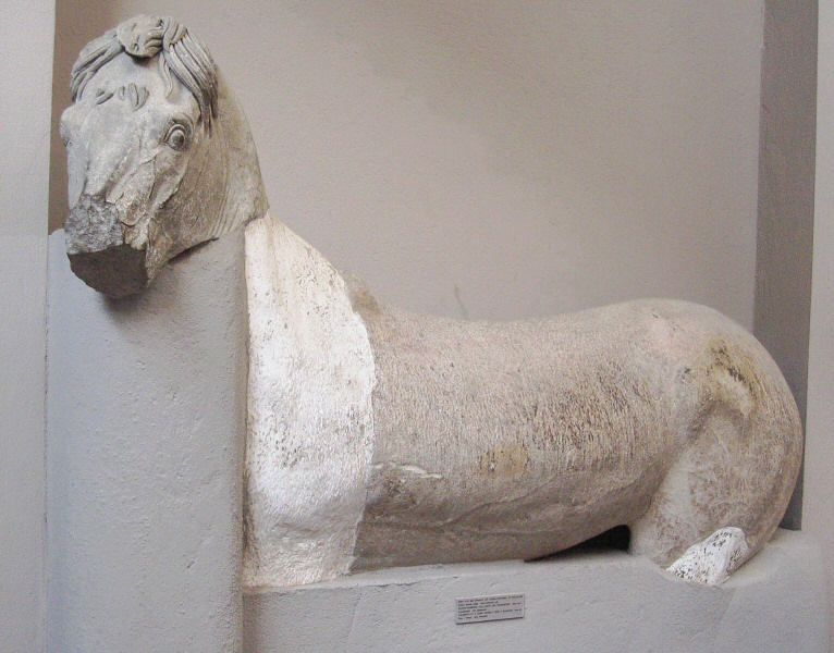 Horse - roof decoration from altar