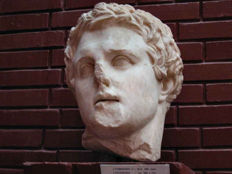 Lysimachos - Lysimakhos.<br>Alexanders successor here