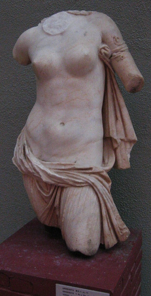 Torso of Aphrodite - copy of one from<br>Hellenistic period