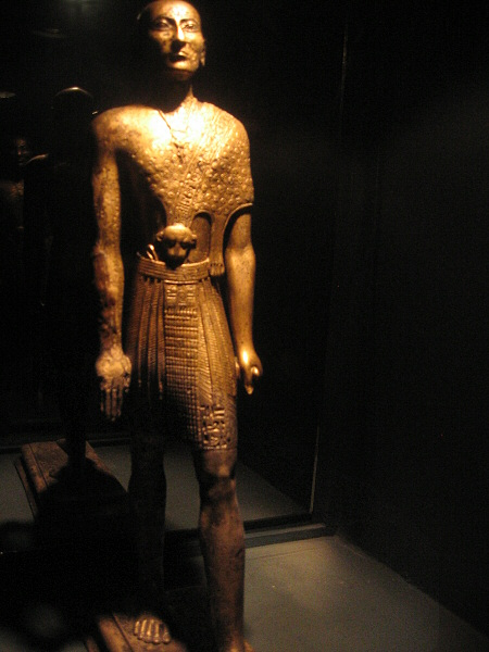 Priest of Egyptian god Amun, inscribed with cartouch of Nekau II