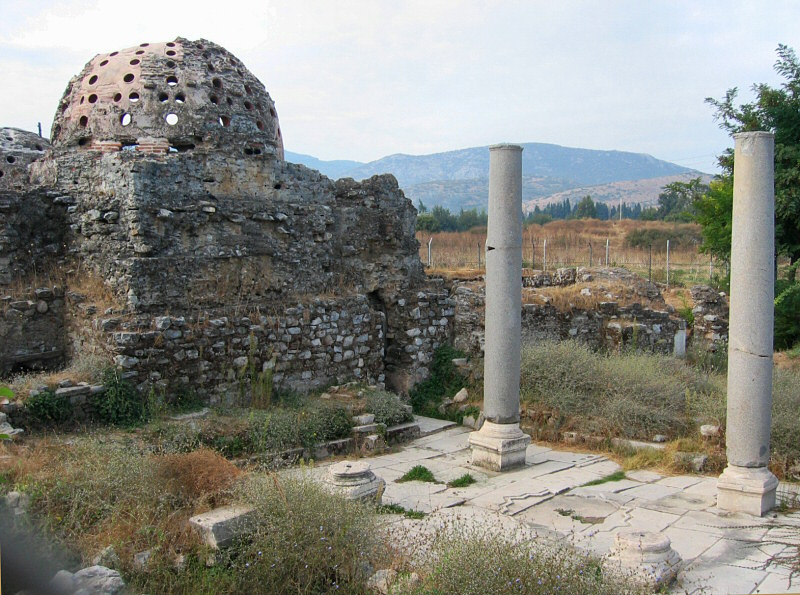 Haman - Turkish Bath - in Selcuk near museum.<br>Those are steam holes.