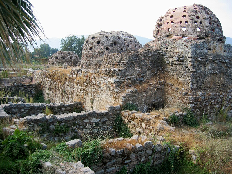 Three turkish baths. Ground dividers held water?