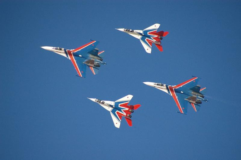 Russian Knights and Swifts (Su-27 and MiG-29)