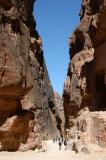Passage from the Treasury to the rest of Petra