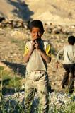 Another boy in Wadi Mujib