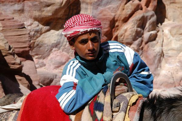 Young Jordanian man at Petra
