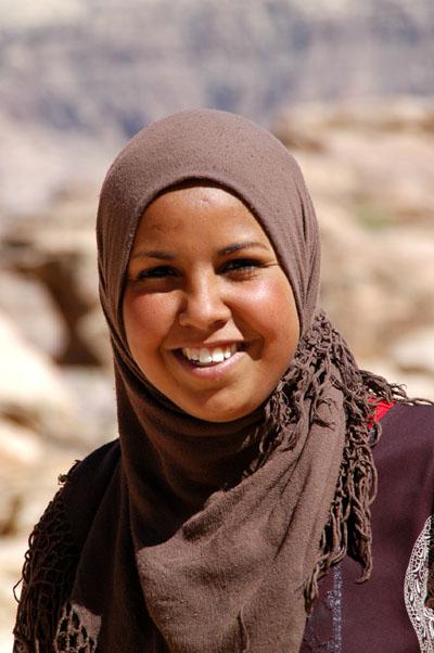 Friendly local girl, Petra, Jordan