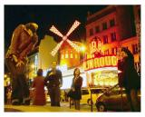 Posing at the Moulin Rouge, Pigalle