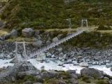 Footbridge over glacial stream