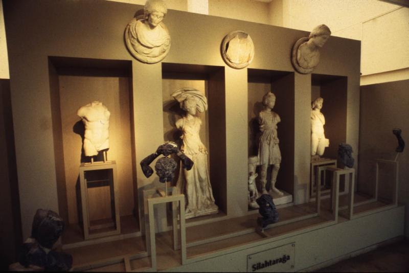 Bronzes and marble statues