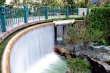 Hotel's Waterfall
