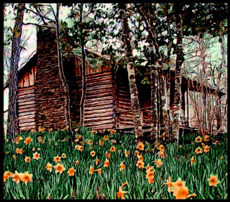 Cabin-Matisse-2-Art by GoldCoin