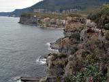 Cliffs along the coast