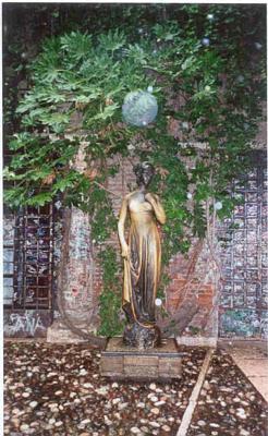 Juliette in her garden