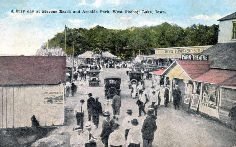 Stevens Beach Arnolds Park 1915