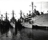 AN17, USS Glennon, DD 840 along side Tender at Newport, RI., 1962