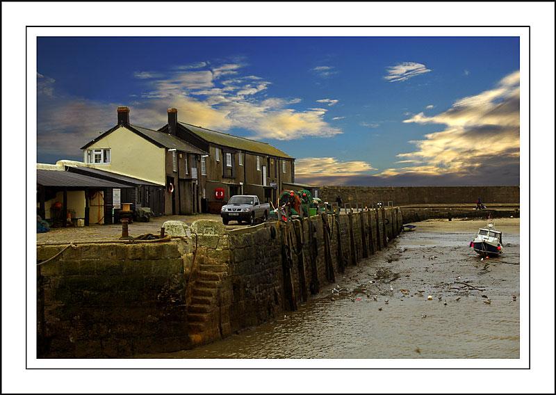 The empty harbour, Lyme Regis