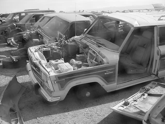 Jeep Wagoneer <br>in the bone yard