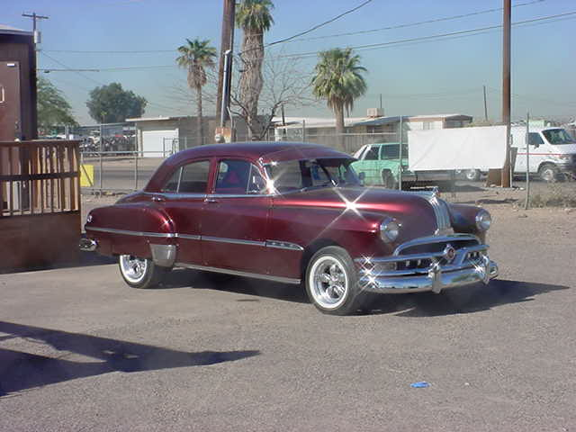<br><b>1952 purple Pontiac</b>