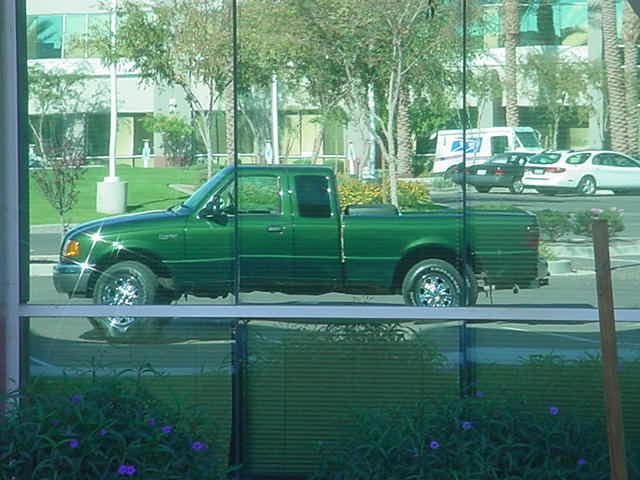 Green Truck Club reflection