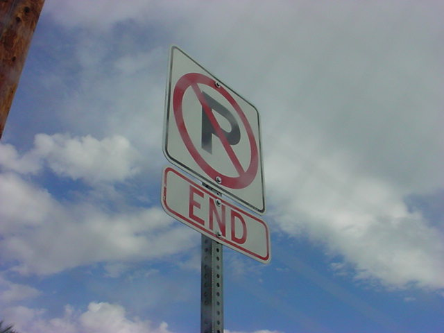 No Parking in the sky