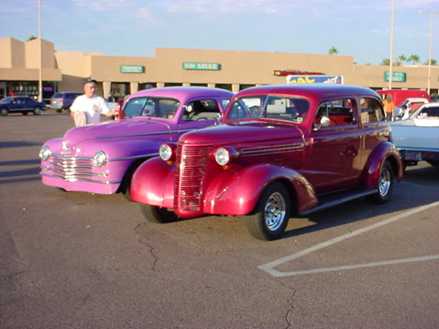 purple Coupe and 38 Chevy photo - Jeffrey Lewis Knapp photos at