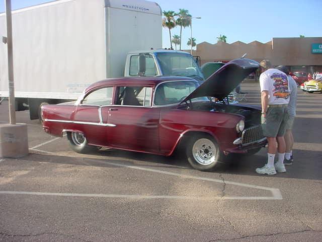 55 Chevy 2 door post