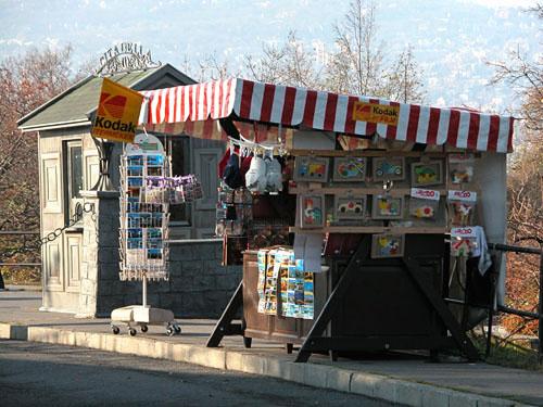 Souvenirs stand near the Citadel, Gellért Hill