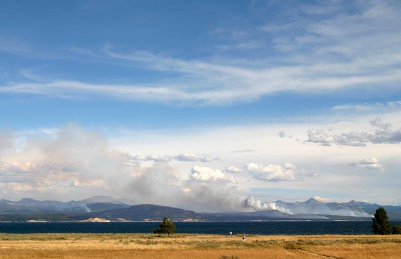 Fire at Yellowstone Lake
