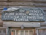 14 George Street St. Augustine, FL 32084  An authentic building in its original state. Inside you'll see the old classroom with life sized figures of the professor and pupils, rare school books, slates, slate pencils and old maps. Compare your school days with those of the old days!