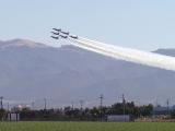 Blue Angels over farmland