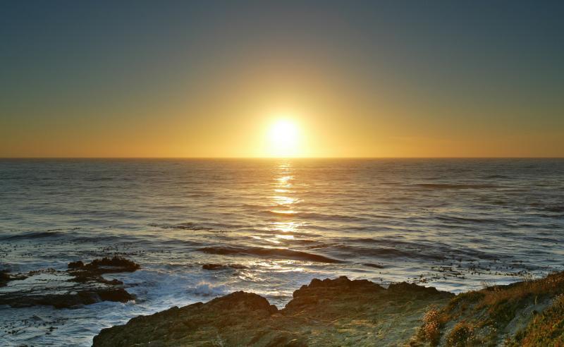 Sunset at the Mendocino Coast