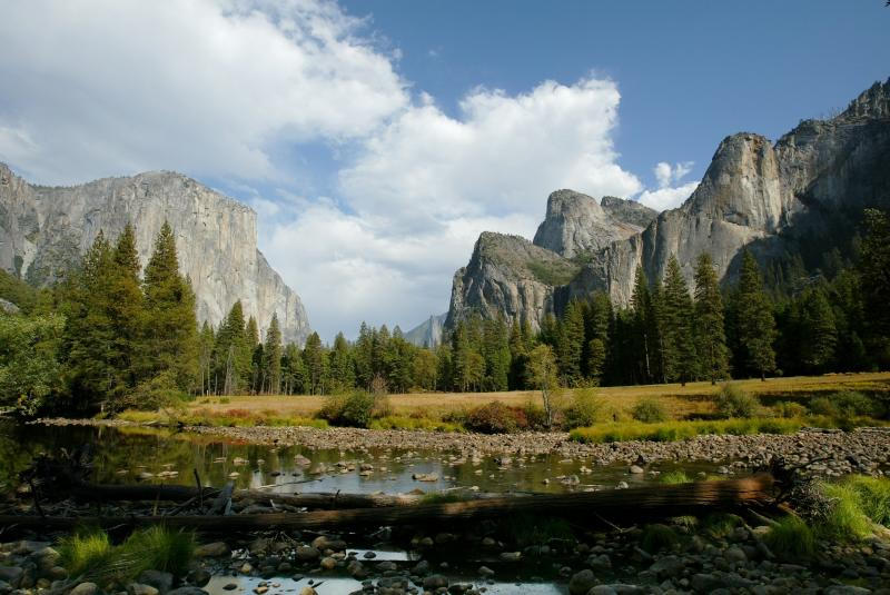 Yosemite Valley, Half Dome and the Merced River