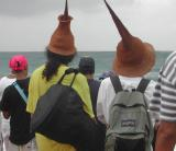 Funky Coconut Hats at Surf Competition