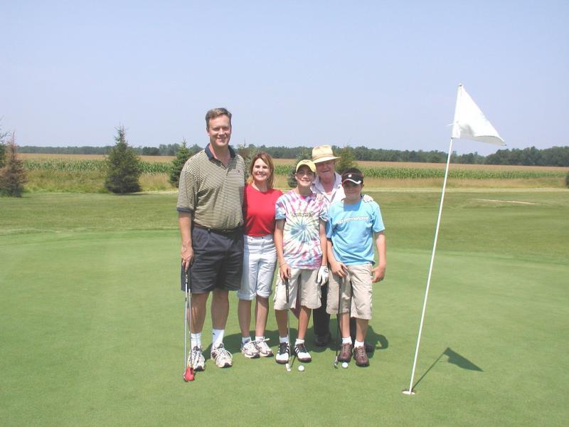 Family  golfing - Aug