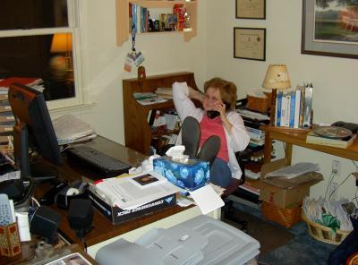 LeeAnn hard at work