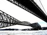 Entre les deux ponts de Québec