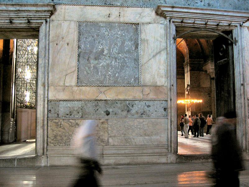 Hagia Sophia, inside, near entrance