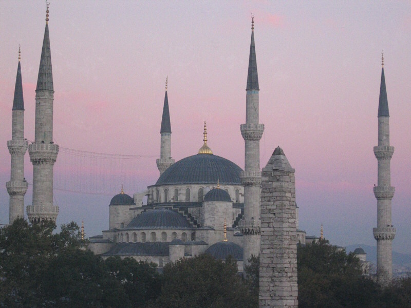 The Blue Mosque, through a window, at this point (cold).  Suleymaniye Cami