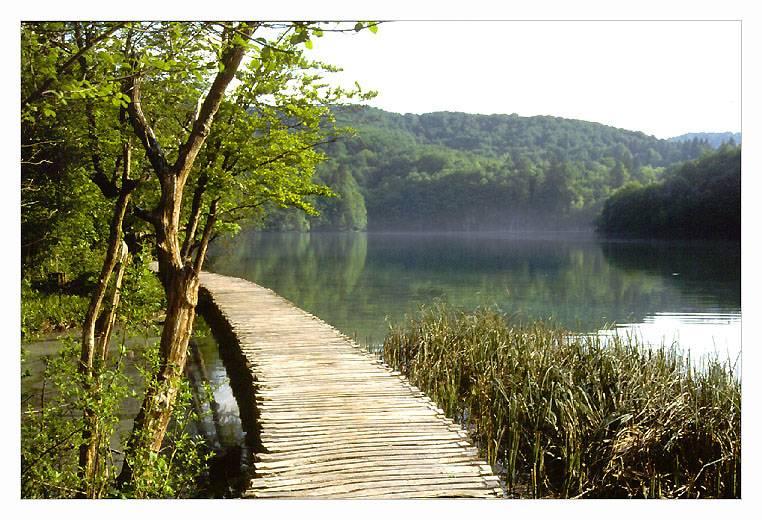 walking through Nat.Park of Plitvice