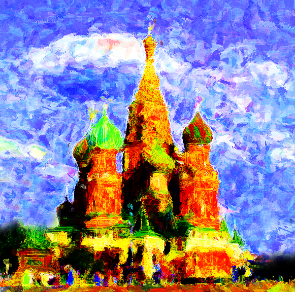 St. Basil on Red Square in Moscow